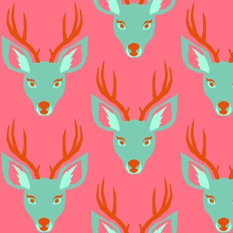 Deer fabric by tinawilson on Spoonflower - custom fabric