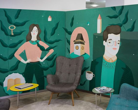 YESSS. here is the finished painting I did the last two days in Graz. THANK you OPTIK NEUROTH for the nice Job! #frauisa #painting #storedesign #optik #neuroth #glasses #lounge
