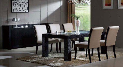 7pc Contemporary Modern Wood w/Crackle Glass dining Set, DS-0716L by UTM, http://www.amazon.com/dp/B006990BOG/ref=cm_sw_r_pi_dp_Q85Mrb1V65C4S