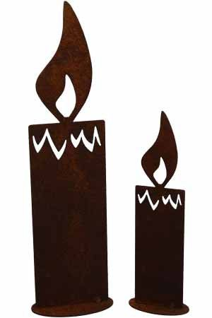 Rost kerze 20 oder 30 cm deko dekoration edelrost garten for Deko rost weihnachten