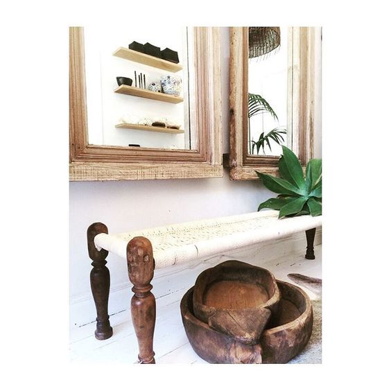 """These beautiful custom made Charpoy Benches are a lovely piece for a narrow hallway or end of a bed #lifestylestore #livedincoogee #coogee #beachhouse…"""