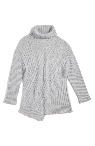 Free shipping and returns on Tucker + Tate Turtleneck Sweater (Big Girls) at Nordstrom.com. A turtleneck sweater in a chunky cable knit is finished with an asymmetrical hem for a cool, modern look.
