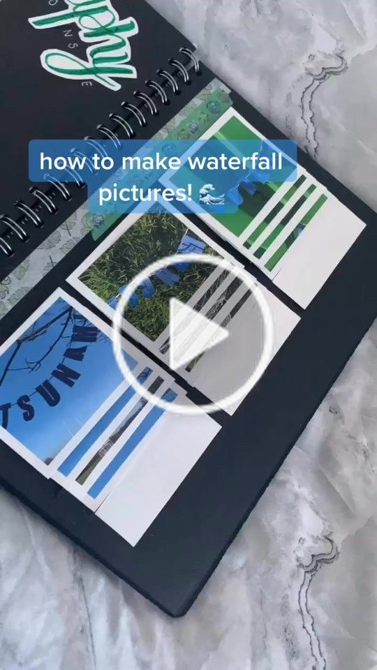 Rღ Euphoraih On Tiktok How To Make Waterfall Pictures You May Need To Save This Since I Go A Bit Fast I M Sorry Waterfall Pictures Gcse Art Creative Art