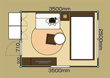 6畳 一人暮らし プラン イメージ