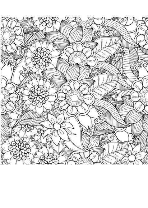 Ausmalbild Blumen Anti Stress Malen Ausmalbilder Malvorlagen
