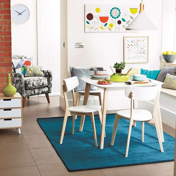 Elements White Dining Table And Chairs