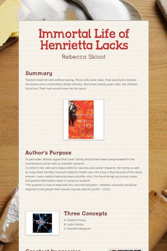 henrietta lacks study guide answers