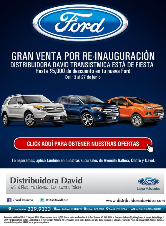 #NOVOCLICK esta con @FordPanama y su #ventainauguracion