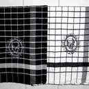 Geschirrtücher - Geschirrtuch schwarz weiß kariert bestickt Skull - ein Designerstück von EloFilz bei DaWanda