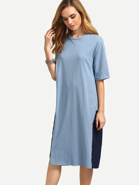 Vestido+suelto+jersey+contraste+15.75