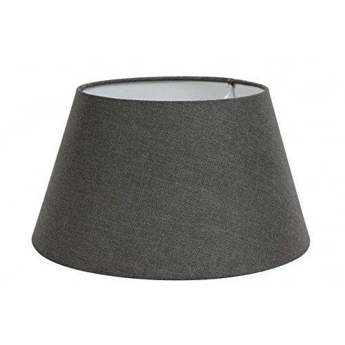 Modern Lighting And Lamp Shade Large 18x14x9 Textured Charcoal Greybrown Taupe Linen Round Lampshade For Floor Or Table Lamp Lamp Lamp Shade White Table Lamp
