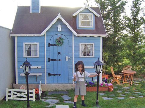 Casita de madera infantil modelo baviera casitas de for Casa infantil jardin