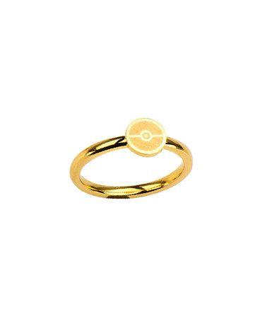Love this Pokémon Poké Ball Goldtone Ring - Adult on #zulily! #zulilyfinds