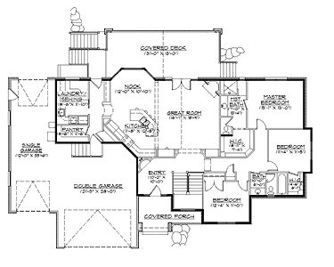 Rambler house plans with basements french country for Country home plans with basement