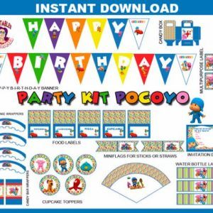 POCOYÓ Party Kit Printable in English. Instant download!