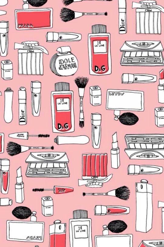 makeup wallpaper phone backgrounds pinterest