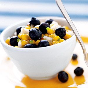Blueberry-corn relish - Seasoned with honey, cardamom, and a bit of ...