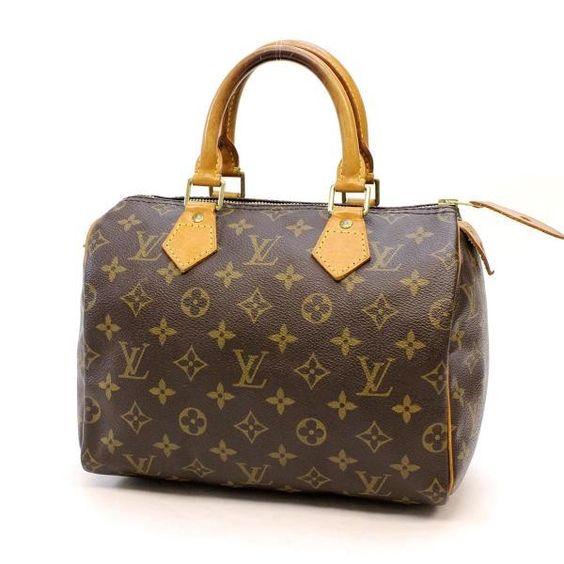Louis Vuitton Speedy 25  Monogram Shoulder bags Brown Canvas M41528