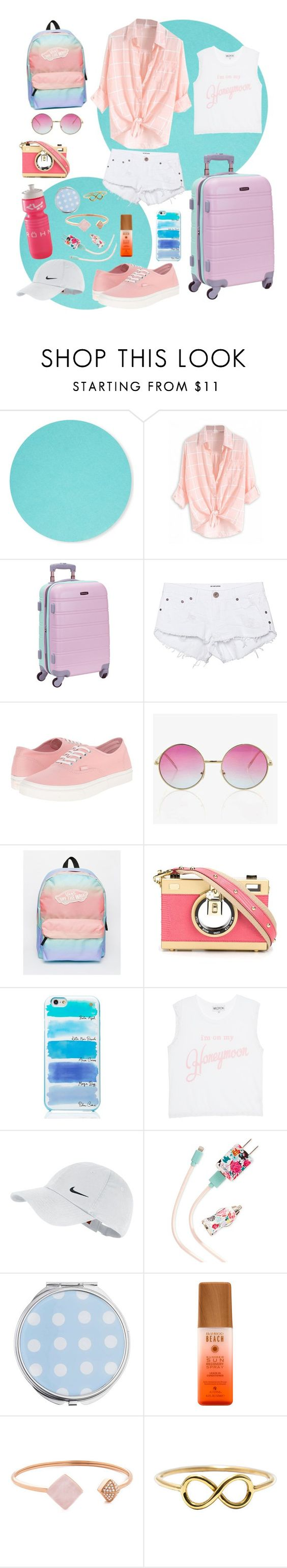 """""""TRAVELING"""" by yikkei ❤ liked on Polyvore featuring Design Letters, Rockland Luggage, One Teaspoon, Vans, Dolce&Gabbana, Kate Spade, Wildfox, NIKE, ban.do and Miss Selfridge"""