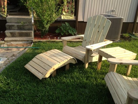 I make these Adriondack Chairs for my back yard.