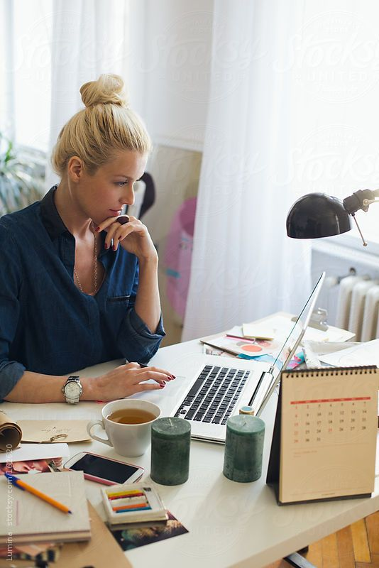 Home Business: Businesswoman at Her Laptop by lumina | Stocksy United