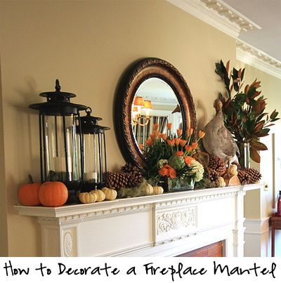 How To Decorate A Fireplace Mantel Traditional Fall