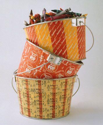 Designer MacGyver: 5 #Halloween Candy Wrapper Crafts (http://blog.hgtv.com/design/2013/10/28/designer-macgyver-5-halloween-candy-wrapper-crafts/?soc=pinterest)