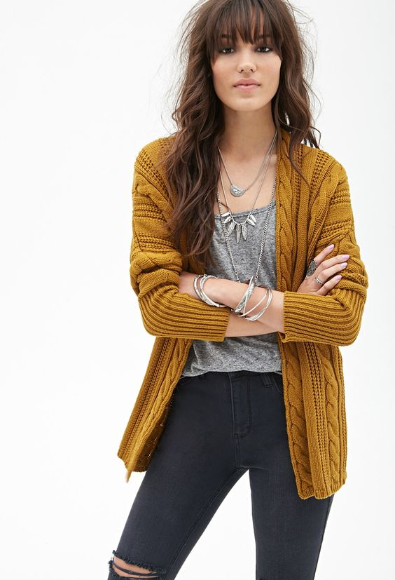 Cable Knit Batwing Cardigan - Clothing - Cardigans - 2000129933 - Forever 21 UK