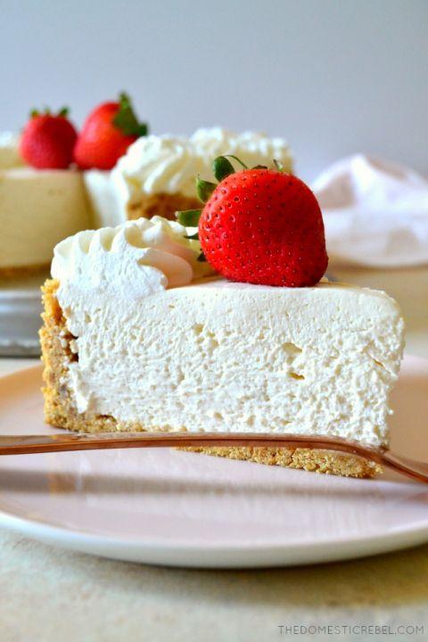 Best Ever No Bake Cheesecake Recipe Easy Cheesecake Recipes Baking Easy Cheesecake