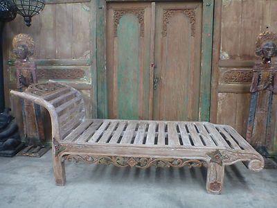 Balinese Furniture Original Teak Bench Seat Sun Lounge Day