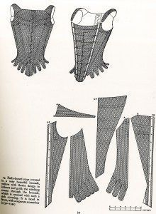 "Norah Waugh, ""Corsets and Crinolines"", 1730's Stays"