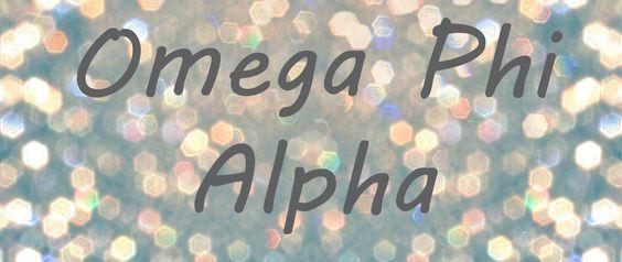 Omega Phi Alpha banner <3
