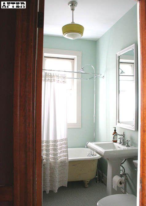 shower curtain: bathroom makeover
