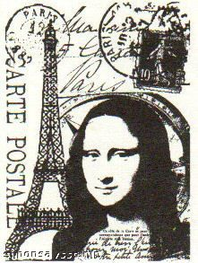 *Tim Holtz Cling Rubber ATC Stamp PARIS 015 Stampers Anonymous