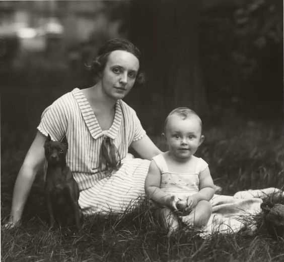 """August Sander """"Young Bourgeois Mother,"""" 1926:"""