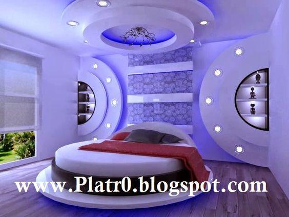 Faux Plafond Tres Moderne Pour Chambre Coucher 2015
