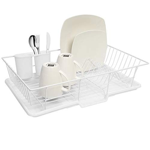 Sweet Home Collection 3 Piece Dish Drainer Rack Set With Https