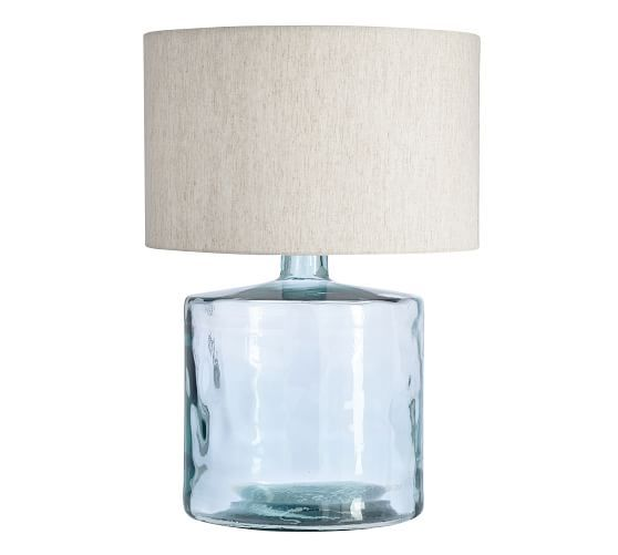 Mallorca Recycled Glass Table Lamp Base Potterybarn Table Lamp Base Glass Table Lamp Modern Lamp