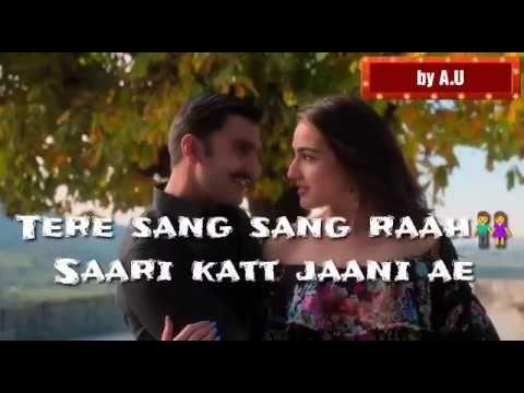 New Whatsapp Status Video Tere Bin Nahi Lagda Song Status Simba Video With Lyrics Part 2 Youtube Song Status New Whatsapp Status Romantic Status