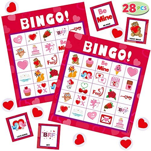 24 Players for Kids Party Card Games School Classroom Games Party Favors Supplies LEEFENGQI Bingo Game Cards 5x5 Family Activity