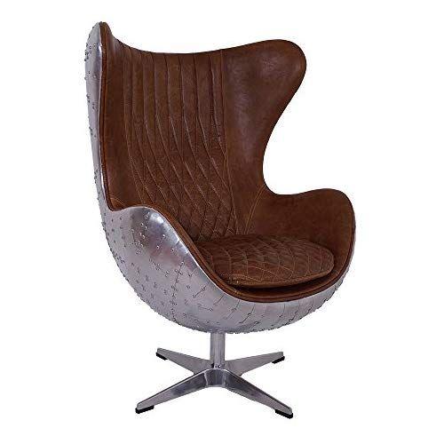 Design Schalensessel Saltum Whisky Brown Vintage Leder Aluminium Sessel Retro Ledersessel Braun Produktdesign