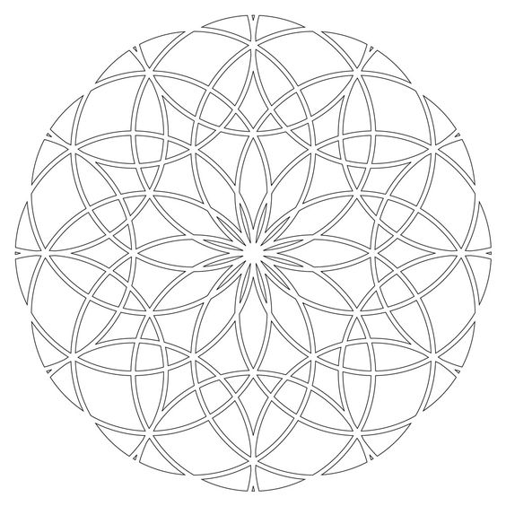 sacred geometry coloring pages - photo #6