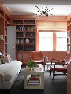 pink lacquered bookshelves - dream