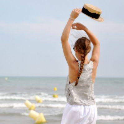 jeanne à la mer