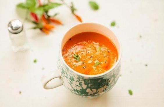 Receita de Creme de Tomate e Cuscuz