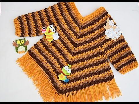 Crochet Fast And Easy Baby Girl Poncho Crochet Ideas Crochet Poncho Free Pattern Crochet Poncho Kids Crochet Baby Clothes