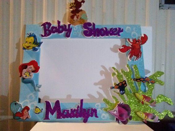 Marco para fotos sirenita bebe photo booth pinterest - Marcos para fotos decoracion ...