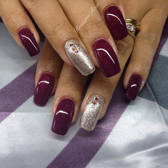 royal 76 e sull'anulare fd1 crystal nails