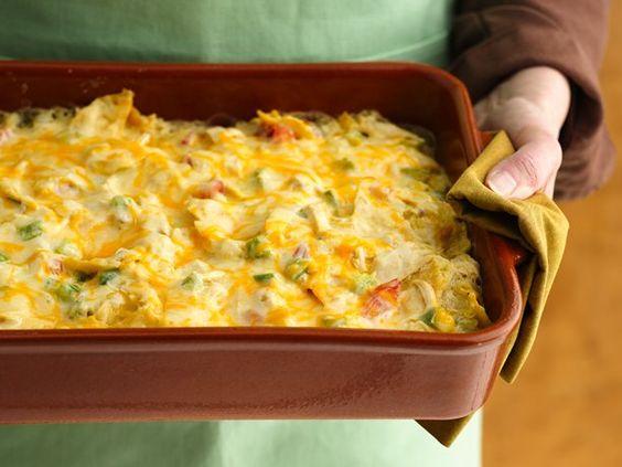 "Healthified Chicken Tortilla Casserole. Love this website- everything has been ""healthified"""