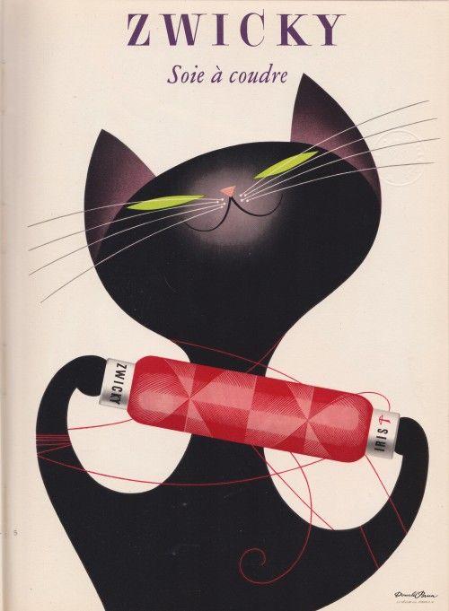 Zwicky Swiss Cotton by Donald Brun, 1955